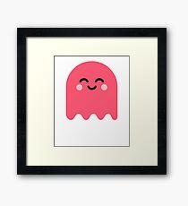 Cute Ghost Pink Framed Print