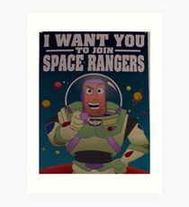 Andy's Buzz Lightyear Poster Art Print