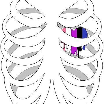 Skelehearts: Genderfluid by GiveAlexAHand