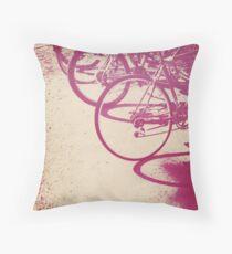 Bicycles Throw Pillow