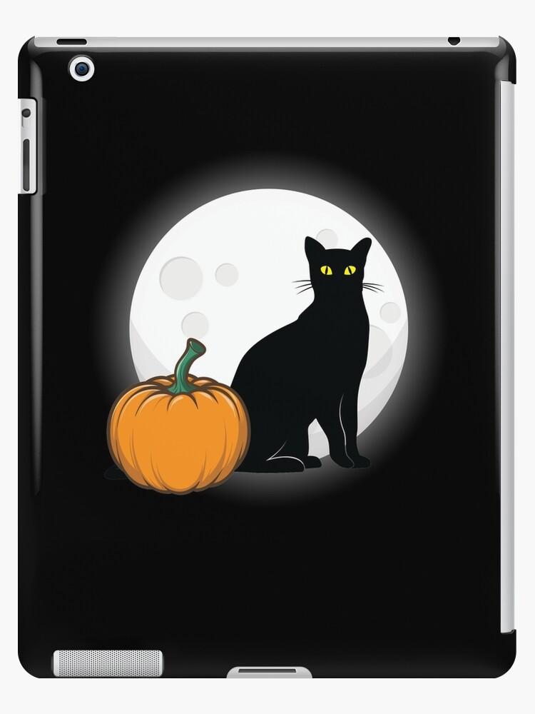 83af9845cefd5 'Black Cat Full Moon Pumpkin Halloween Costume ' iPad Case/Skin by BUBLTEES