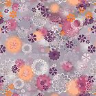 Lacy Flowers Seamless Repeating Pattern by PaulaOhreen