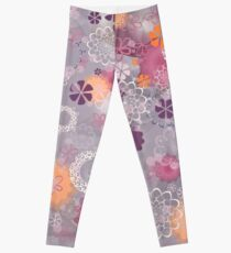 Lacy Flowers Seamless Repeating Pattern Leggings