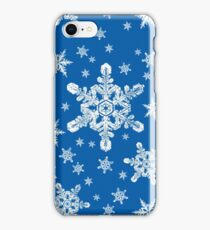 Snowflakes in White + Blue | 'Tis the Season Series iPhone Case/Skin