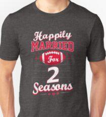 2nd Wedding Anniversary Funny Football Lover Gift Unisex T-Shirt