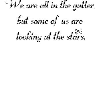 Oscar Wilde - Looking at the Stars by kegofglory
