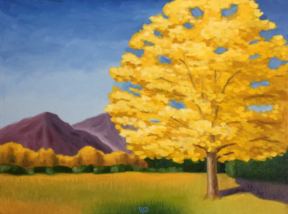 Lone Cottonwood by rjdfineart