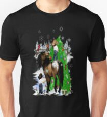 A Horse and Kid Christmas T-Shirt