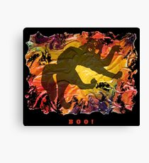 BOO! HALLOWEEN SCARY CAT Canvas Print