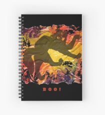 BOO! HALLOWEEN SCARY CAT Spiral Notebook