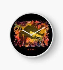 BOO! HALLOWEEN SCARY CAT Clock