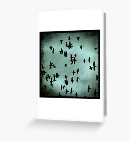 Black Birds Greeting Card