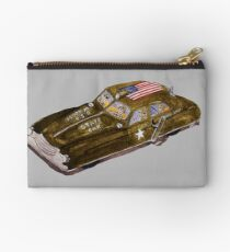 Vintage US Army Staff Car Wind-Up Toy Studio Pouch