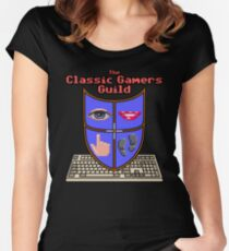 Classic Gamers Guild colour logo with text Women's Fitted Scoop T-Shirt