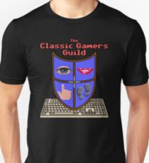 Classic Gamers Guild colour logo with text T-Shirt
