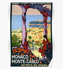 Weinlese-Monaco Monte Carlo Vintages Plakat Poster