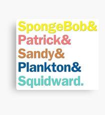 SpongeBob Squarepants Characters | Colors Canvas Print