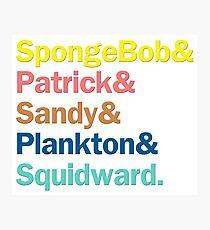 SpongeBob Squarepants Characters   Colors Photographic Print