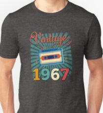 50th Birthday Retro Vintage 1967 Cool Old School  T-Shirt