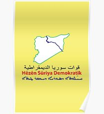 Syrian Democratic Forces Flag Poster