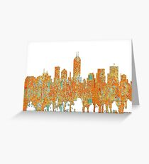 Indianapolis, Indiana Skyline - Rust Greeting Card