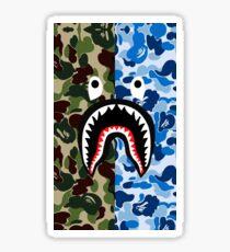 A Bathing Ape Blue Shark Sticker