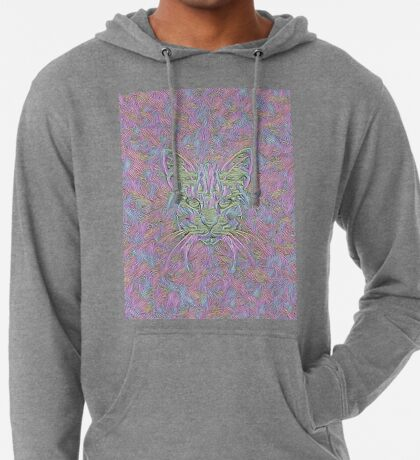 Abstract Cat Lightweight Hoodie