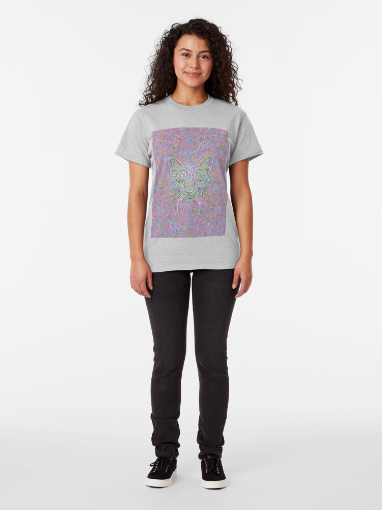 Alternate view of Abstract Cat Classic T-Shirt