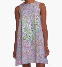 Abstract Cat A-Line Dress