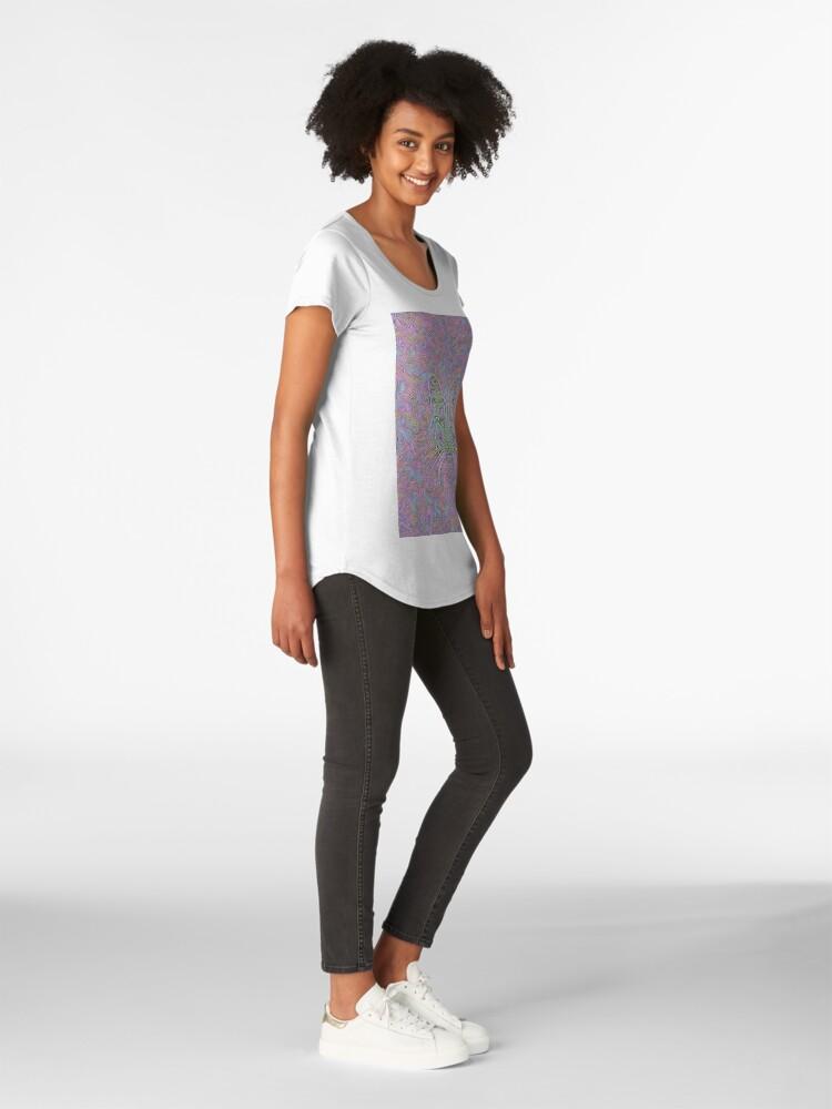 Alternate view of Abstract Cat Premium Scoop T-Shirt