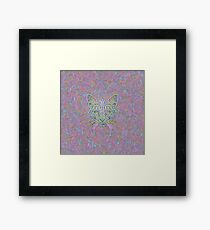 Abstract Cat Framed Print