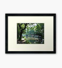 Summer on the River Wey Navigation, Wisley, Surrey, U.K. Framed Print