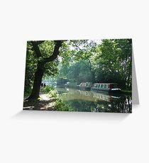 Summer on the River Wey Navigation, Wisley, Surrey, U.K. Greeting Card