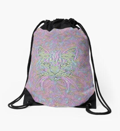 Abstract Cat Drawstring Bag