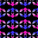 Love Bats - pink and blue by Kestrelle