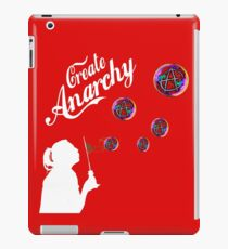 Create Anarchy Shirt Soap Bubbles iPad Case/Skin