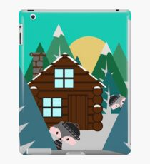 Winter cabin in the woods iPad Case/Skin
