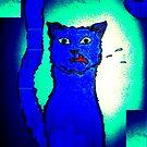 Benny Blue series, blue & white by rose loya