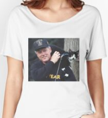 Bill Clinton With Cat. Women's Relaxed Fit T-Shirt