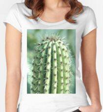 cactus photography Women's Fitted Scoop T-Shirt