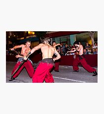 Sword fight in the street Photographic Print