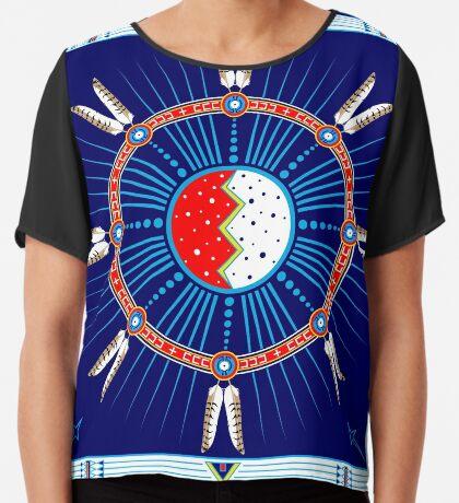 Crazy Horse Dreaming Women's Chiffon Top