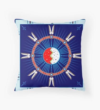 Crazy Horse Dreaming Throw Pillow