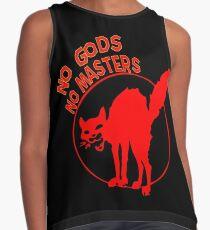 """No Gods, No Masters!"" Anarchist Cat Shirt Contrast Tank"