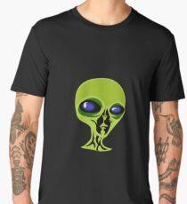 Extraterrestrial Green Blue Black  Alien Martian Men's Premium T-Shirt