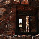 Three old window frames at New Norcia by myraj
