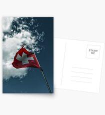 Swiss Flag Postcards