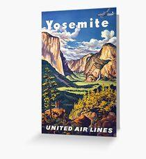 Vintage Yosemite Travel Poster Greeting Card
