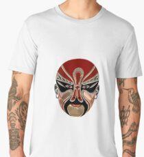 Peking Opera Facial Masks In Red And Black Men's Premium T-Shirt