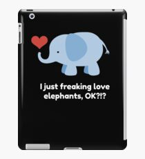 Cute Kids Shirt for Children who Love Elephants with Quote iPad Case/Skin